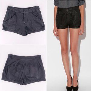 Silence Noise UO 0 Black Leather Trouser Shorts XS